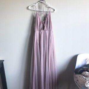 Topshop prom wedding purple lavender lace dress